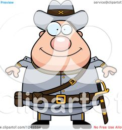 clipart of a happy chubby civil war confederate soldier man royalty free vector illustration [ 1080 x 1024 Pixel ]