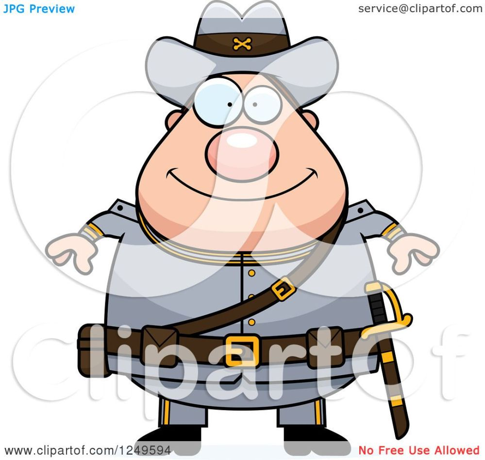medium resolution of clipart of a happy chubby civil war confederate soldier man royalty free vector illustration