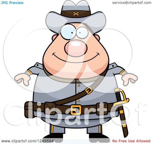 small resolution of clipart of a happy chubby civil war confederate soldier man royalty free vector illustration