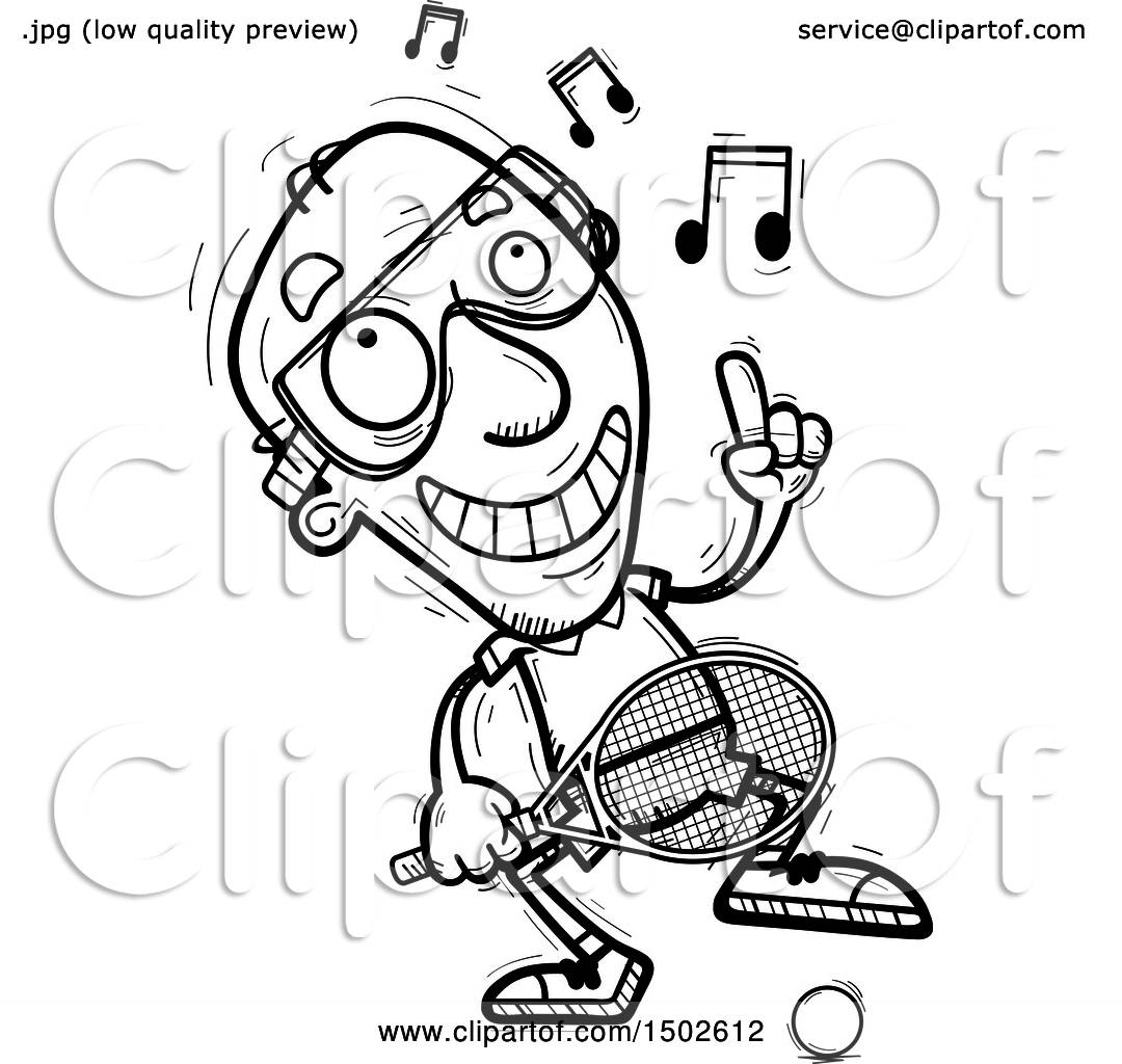 hight resolution of clipart of a happy dancing senior man racquetball player royalty free vector illustration by cory thoman