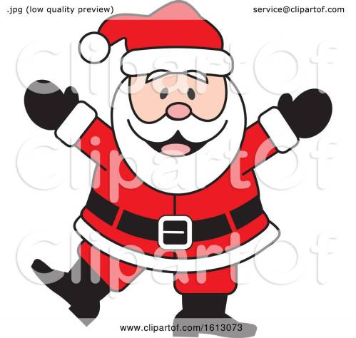 small resolution of clipart of a happy dancing white christmas santa claus royalty free vector illustration by johnny