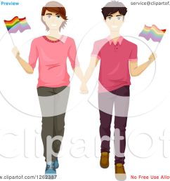 clipart of a happy gay couple waving flags in a gay pride march royalty free vector [ 1080 x 1024 Pixel ]