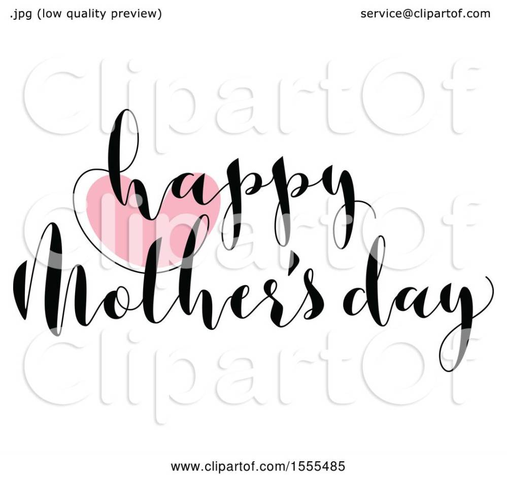 medium resolution of clipart of a happy mothers day greeting with a heart royalty free vector illustration by