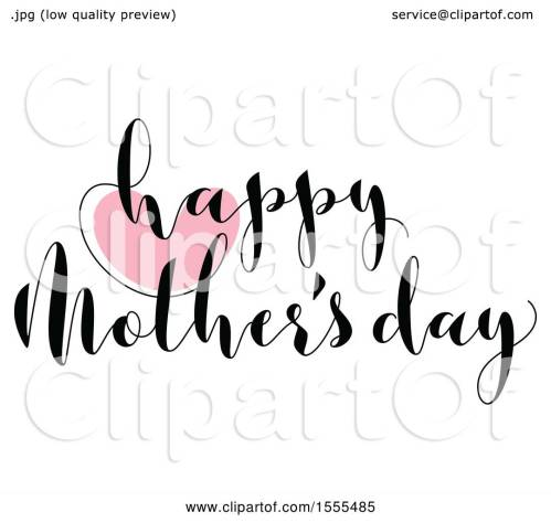 small resolution of clipart of a happy mothers day greeting with a heart royalty free vector illustration by