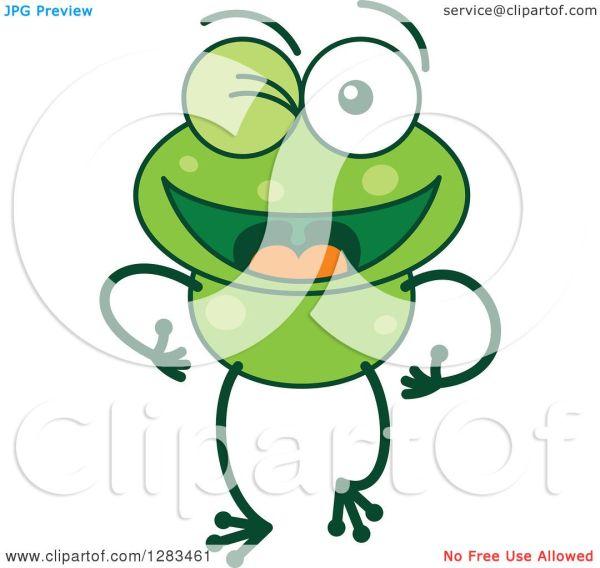 clipart of happy flirty winking