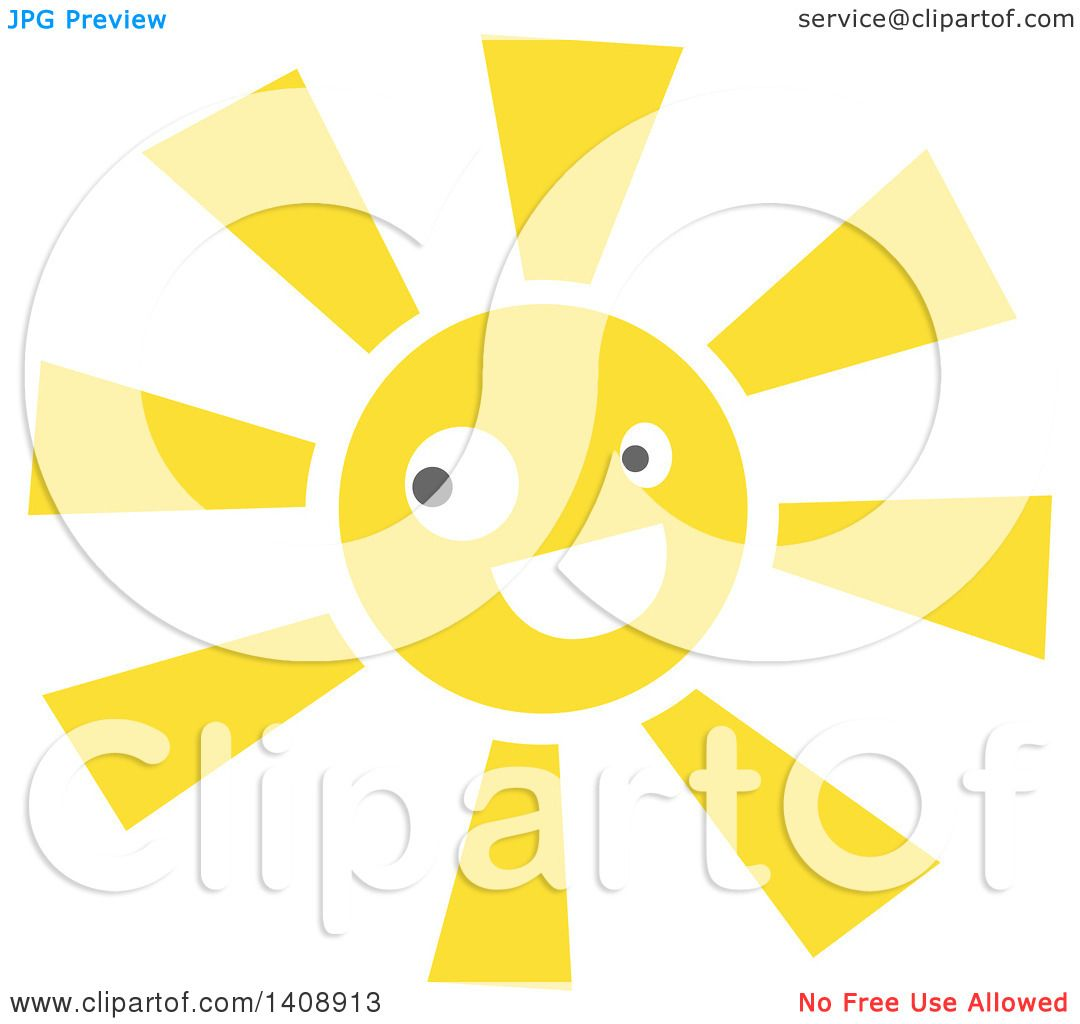 hight resolution of clipart of a happy sun character royalty free vector illustration by melisende vector