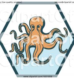 clipart of a hexagon and octopus royalty free vector illustration by vector tradition sm [ 1080 x 1024 Pixel ]