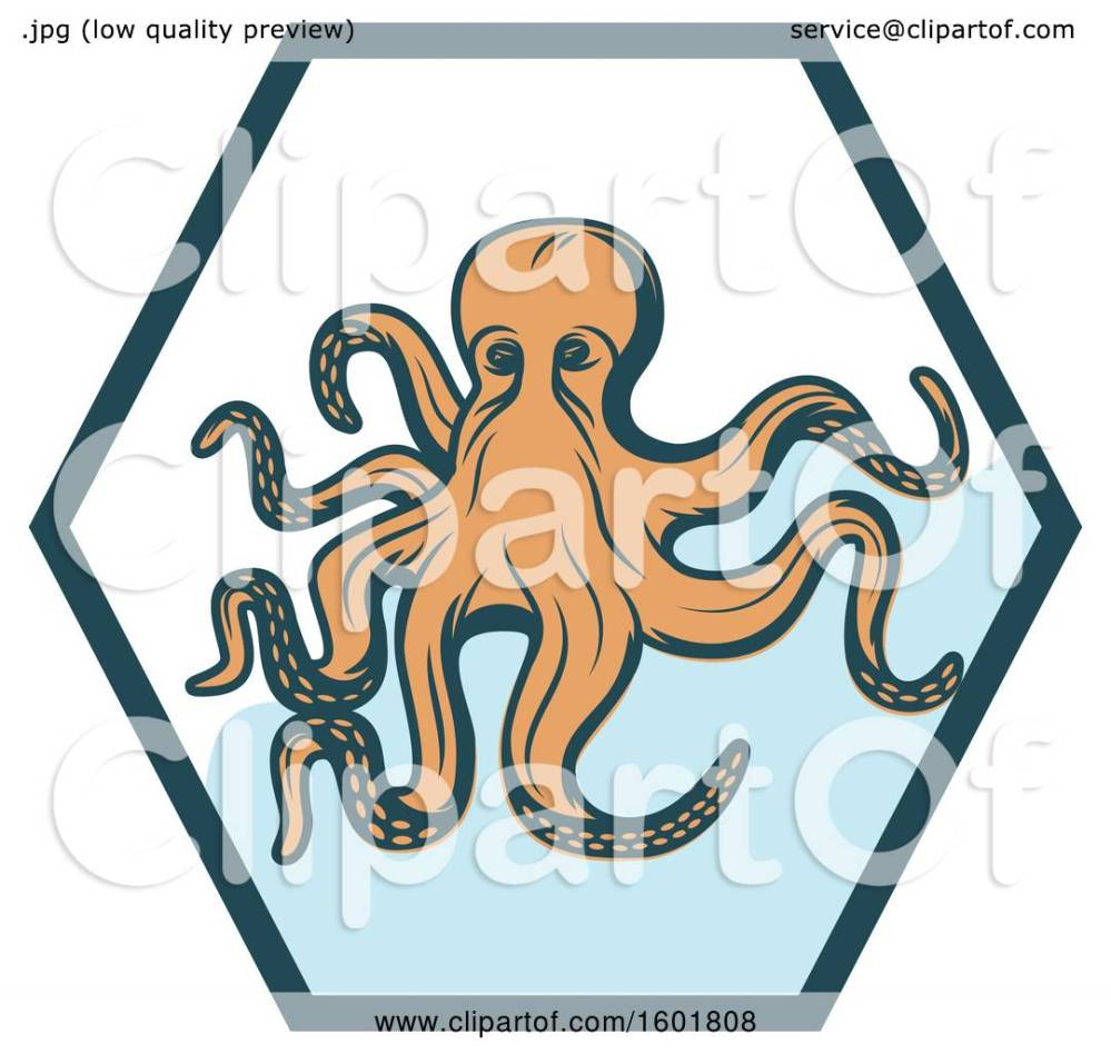 medium resolution of clipart of a hexagon and octopus royalty free vector illustration by vector tradition sm