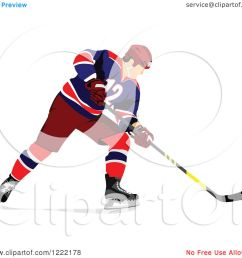 clipart of a hockey player royalty free vector illustration by leonid [ 1080 x 1024 Pixel ]