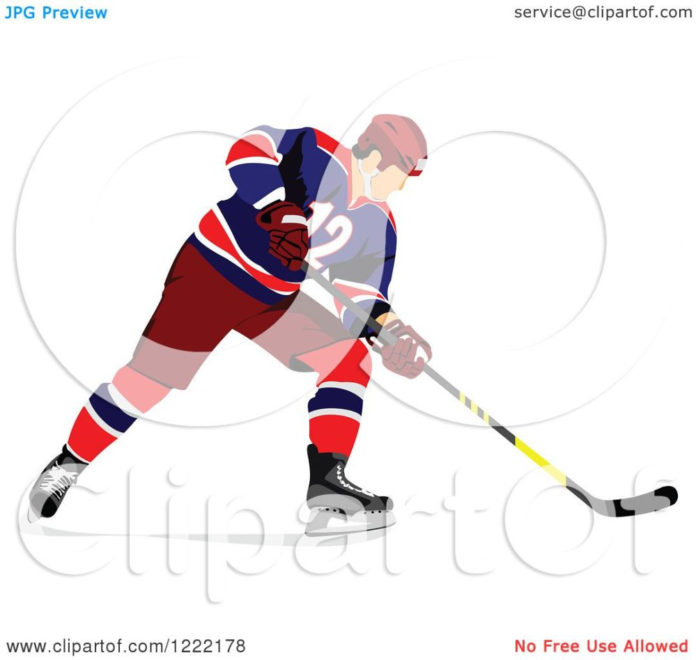 medium resolution of clipart of a hockey player royalty free vector illustration by leonid
