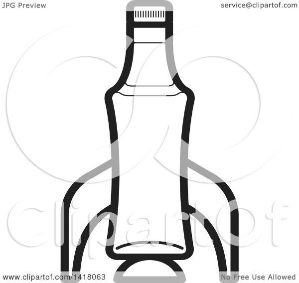 clipart of lineart beer bottle
