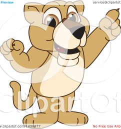 clipart of a lion cub school mascot character holding up a finger royalty free vector illustration by toons4biz [ 1080 x 1024 Pixel ]