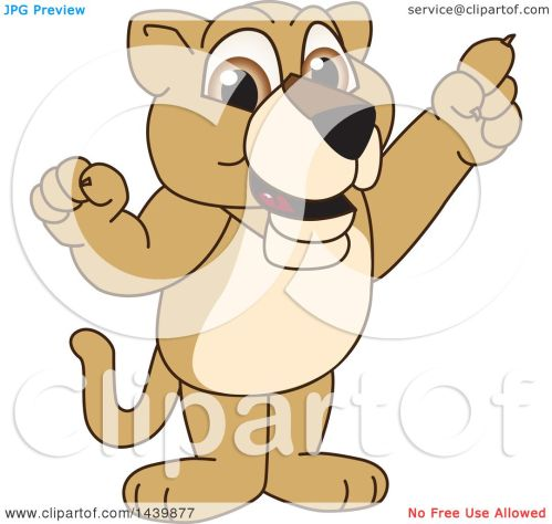 small resolution of clipart of a lion cub school mascot character holding up a finger royalty free vector illustration by toons4biz