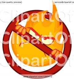 clipart of a mad fireball flame character in a prohibited symbol royalty free vector illustration [ 1080 x 1024 Pixel ]