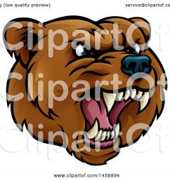 clipart of a mad grizzly bear mascot head royalty free vector illustration by atstockillustration [ 1080 x 1024 Pixel ]