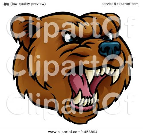 small resolution of clipart of a mad grizzly bear mascot head royalty free vector illustration by atstockillustration