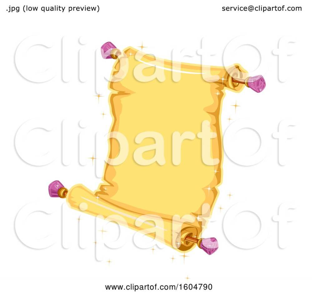 medium resolution of clipart of a magical open scroll royalty free vector illustration by bnp design studio
