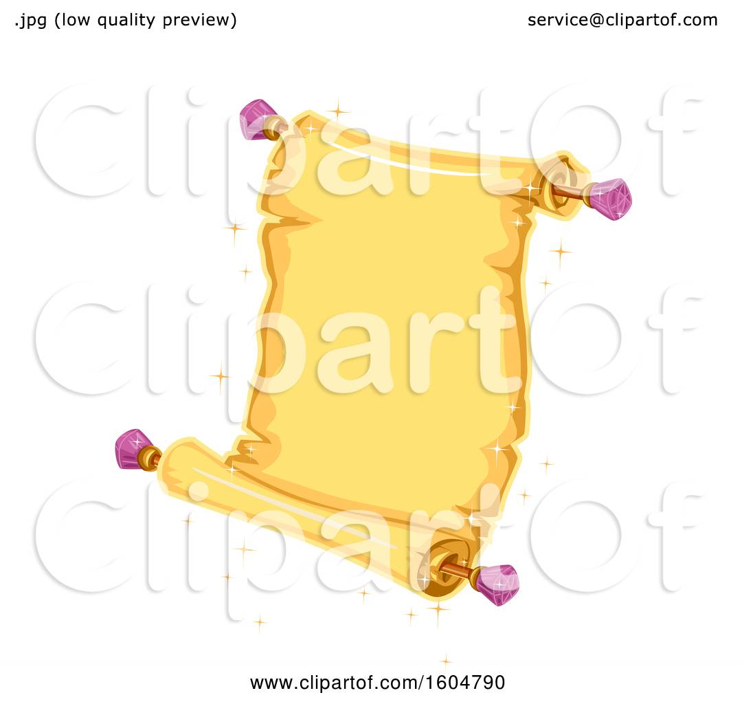 hight resolution of clipart of a magical open scroll royalty free vector illustration by bnp design studio