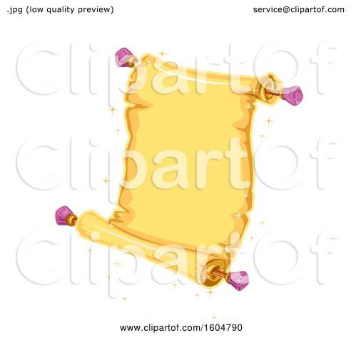 small resolution of clipart of a magical open scroll royalty free vector illustration by bnp design studio