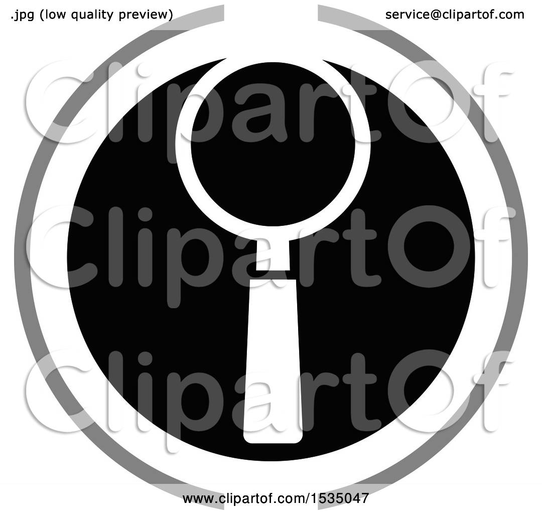 hight resolution of clipart of a magnifying glass icon royalty free vector illustration by lal perera