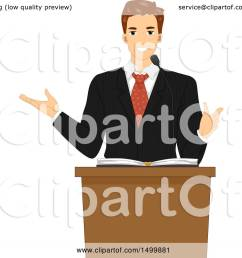 clipart of a male pastor preaching at a lectern royalty free vector illustration by bnp [ 1080 x 1024 Pixel ]