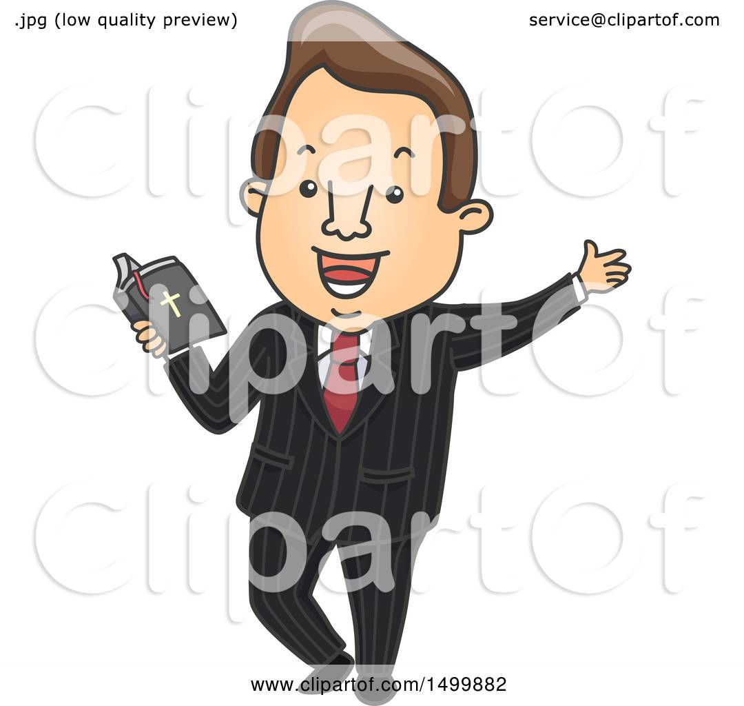 hight resolution of clipart of a male preacher holding a bible royalty free vector illustration by bnp design