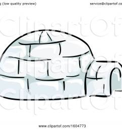 clipart of a native american igloo dwelling royalty free vector illustration by bnp design studio [ 1080 x 1024 Pixel ]