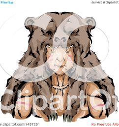 clipart of a native american indian hunter wearing a bear skin headdress royalty free vector illustration by bnp design studio [ 1080 x 1024 Pixel ]