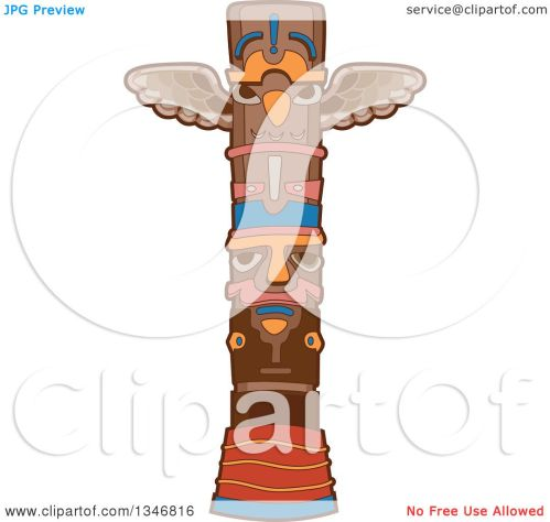 small resolution of clipart of a native american indian totem pole royalty free vector illustration by bnp design