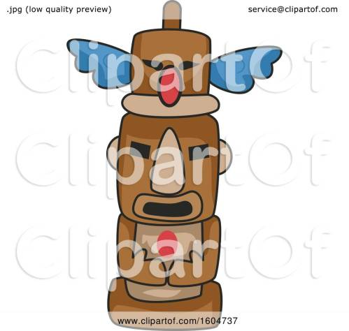small resolution of clipart of a native american totem pole royalty free vector illustration by bnp design studio