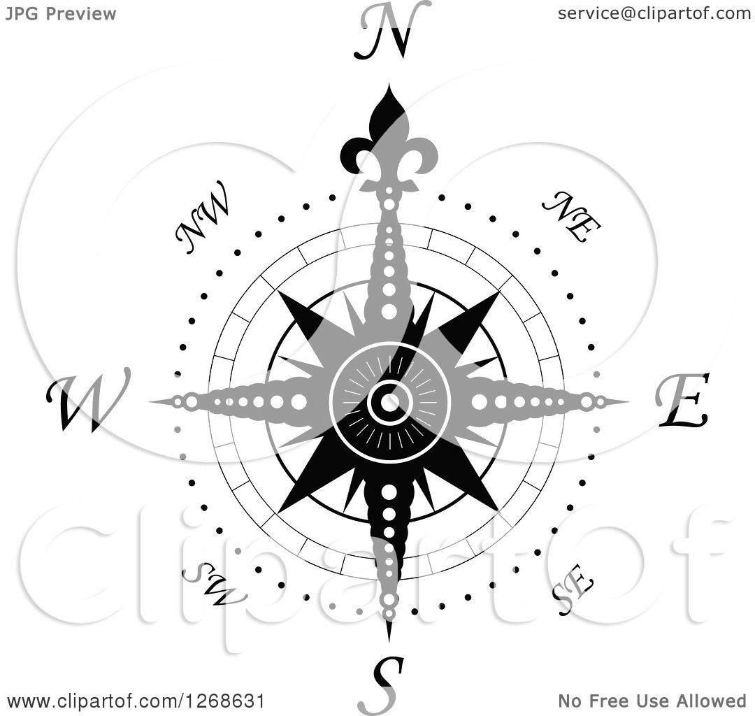 Clipart Of A Nautical Compass