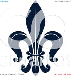clipart of a navy blue lily fleur de lis royalty free vector illustration by vector tradition sm [ 1080 x 1024 Pixel ]