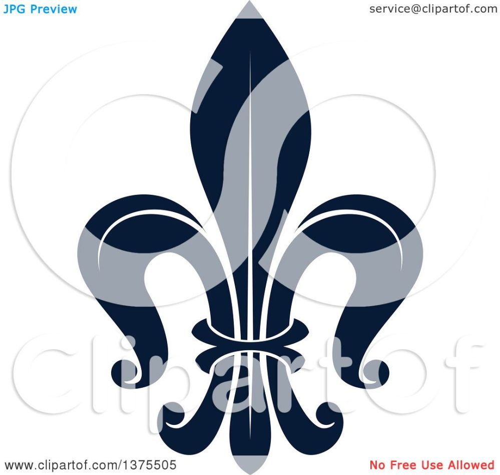 medium resolution of clipart of a navy blue lily fleur de lis royalty free vector illustration by vector tradition sm