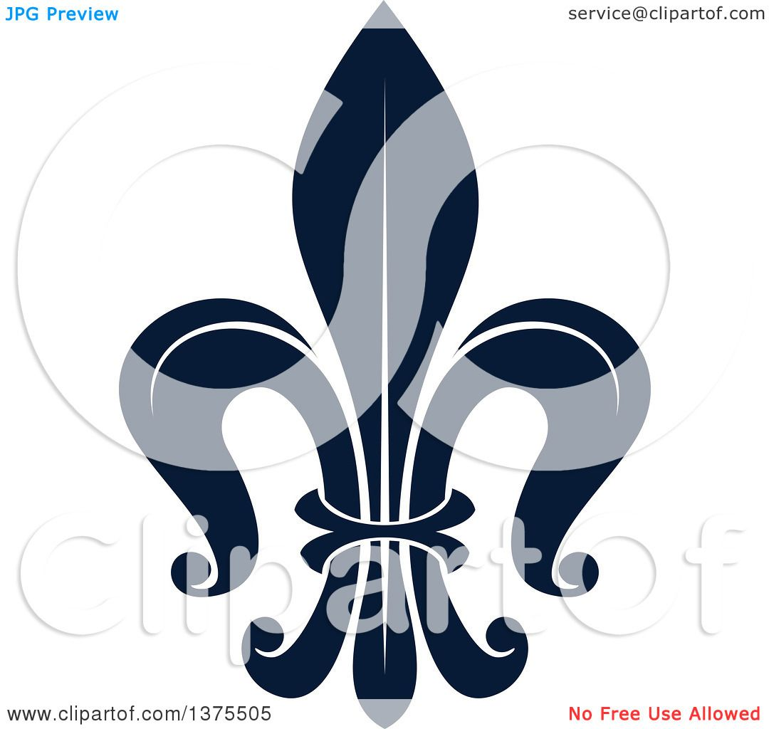 hight resolution of clipart of a navy blue lily fleur de lis royalty free vector illustration by vector tradition sm