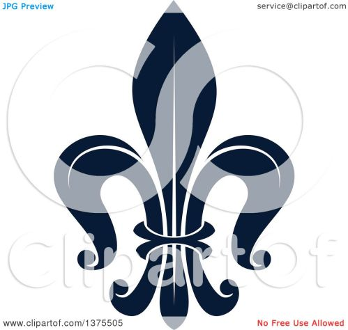 small resolution of clipart of a navy blue lily fleur de lis royalty free vector illustration by vector tradition sm