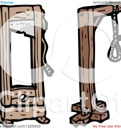 clipart of a noose and guillotine royalty free vector illustration by lineartestpilot [ 1080 x 1024 Pixel ]