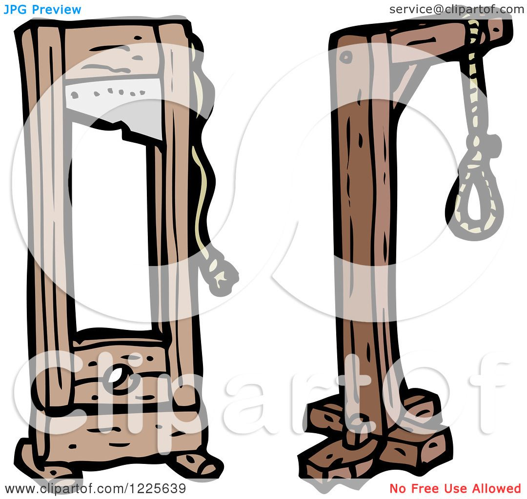 hight resolution of clipart of a noose and guillotine royalty free vector illustration by lineartestpilot