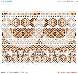 native border designs american orange clipart royalty illustration vector tradition sm graphics seamartini