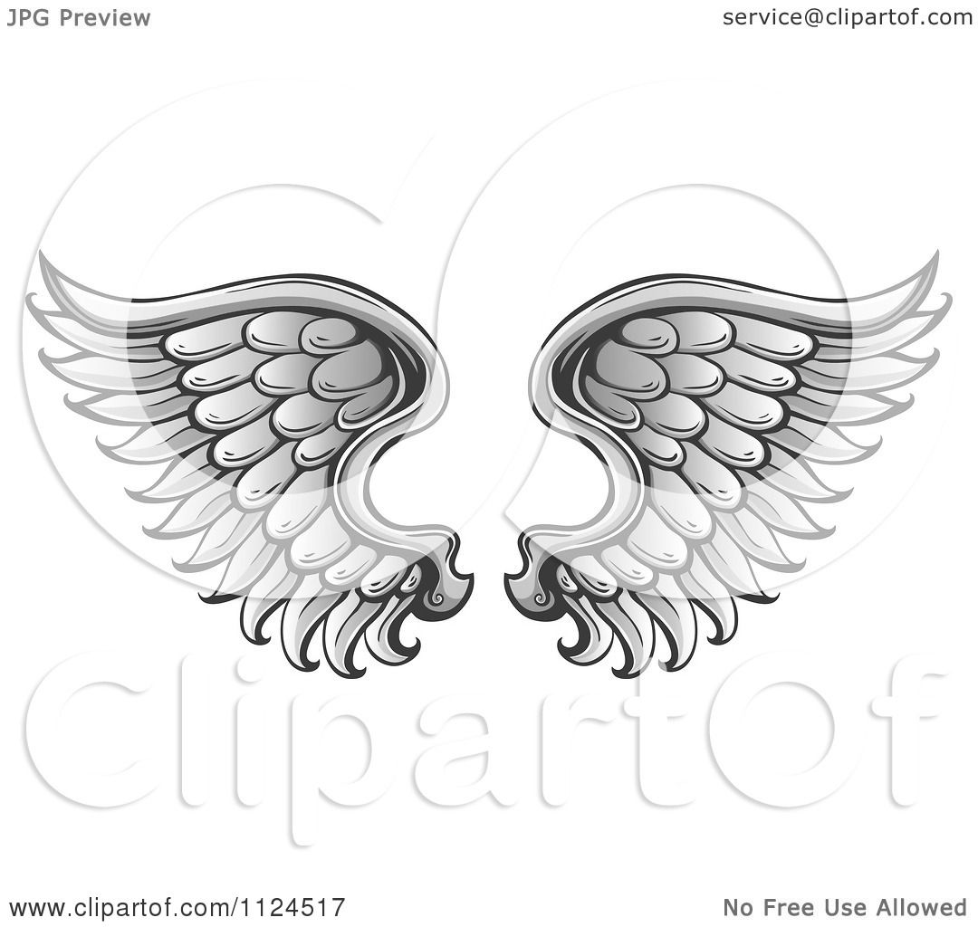 Clipart Of A Pair Of Angel Wings 1