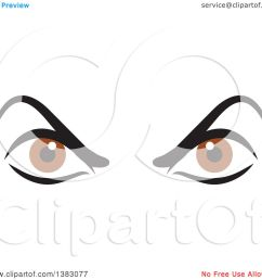 clipart of a pair of angry brown eyes royalty free vector illustration by johnny sajem [ 1080 x 1024 Pixel ]