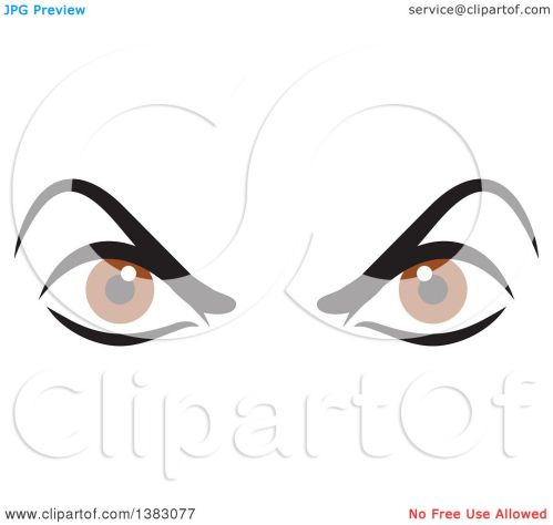 small resolution of clipart of a pair of angry brown eyes royalty free vector illustration by johnny sajem