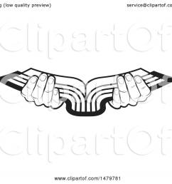 clipart of a pair of black and white hands holding an open book royalty free [ 1080 x 1024 Pixel ]