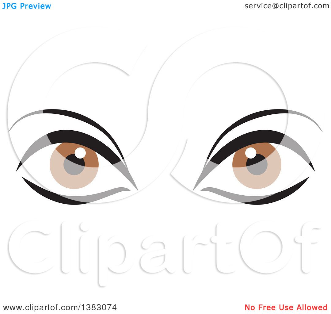 hight resolution of clipart of a pair of brown eyes royalty free vector illustration by johnny sajem