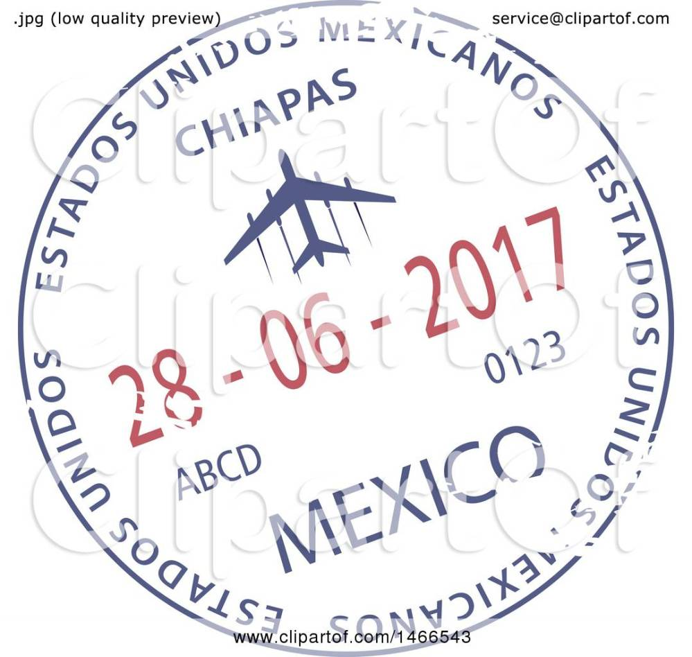 medium resolution of clipart of a passport stamp design royalty free vector illustration by vector tradition sm