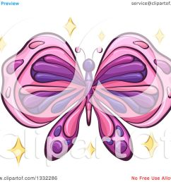 clipart of a pink and purple butterfly with sparkles royalty free vector illustration by bnp [ 1080 x 1024 Pixel ]