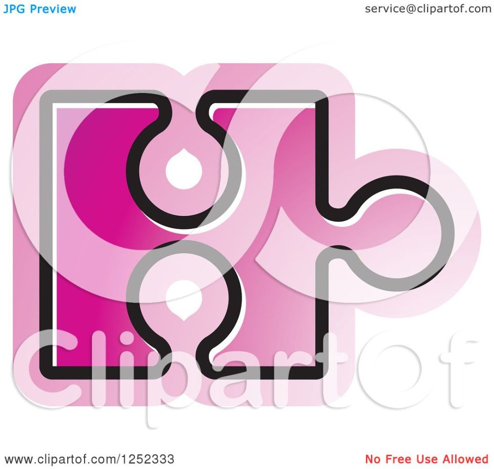 medium resolution of clipart of a pink jigsaw puzzle piece royalty free vector illustration by lal perera