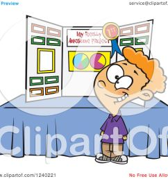 clipart of a proud caucasian boy winning first place at a science fair royalty free vector illustration by toonaday [ 1080 x 1024 Pixel ]