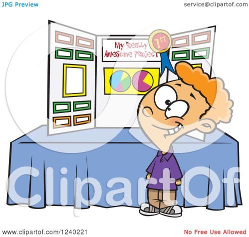 small resolution of clipart of a proud caucasian boy winning first place at a science fair royalty free vector illustration by toonaday
