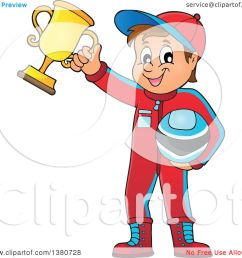 clipart of a race car driver holding his helmet and first place trophy royalty free vector illustration by visekart [ 1080 x 1024 Pixel ]