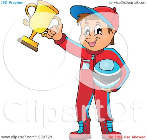 small resolution of clipart of a race car driver holding his helmet and first place trophy royalty free vector illustration by visekart